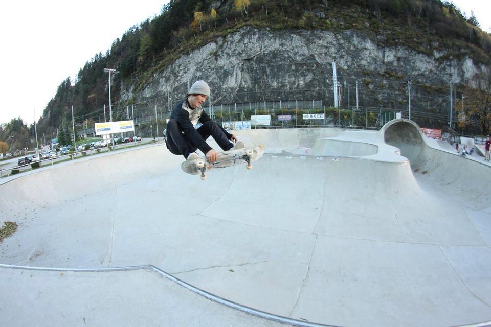 Kalle is also a wizard on his skateboard. Photo: Antti Koskinen