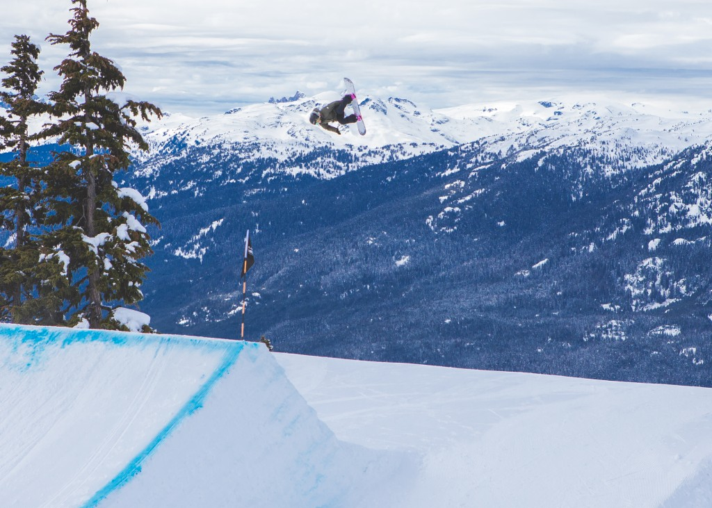 Anna with a peach of a Sw Back 5 in Whistler. Photo: Sani Alibabic