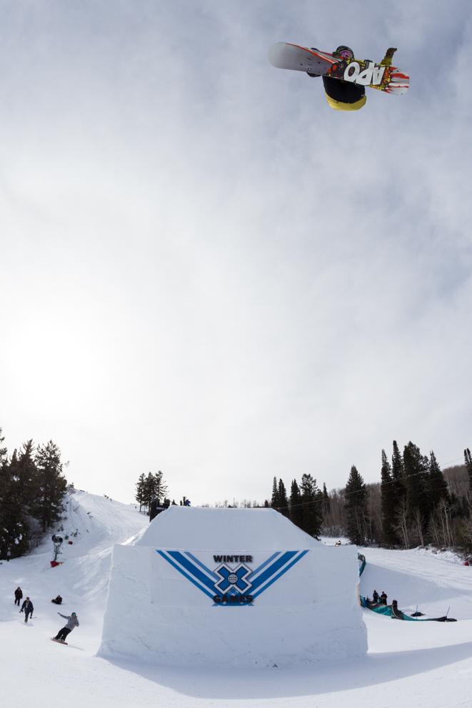 Boosting at Winter X-Games Photo: Sani Alibabic