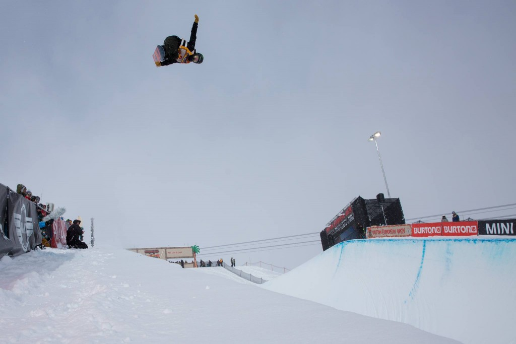 Adapting to the culture and air pressure at this years Burton European Open. Photo: Matt Mchattie