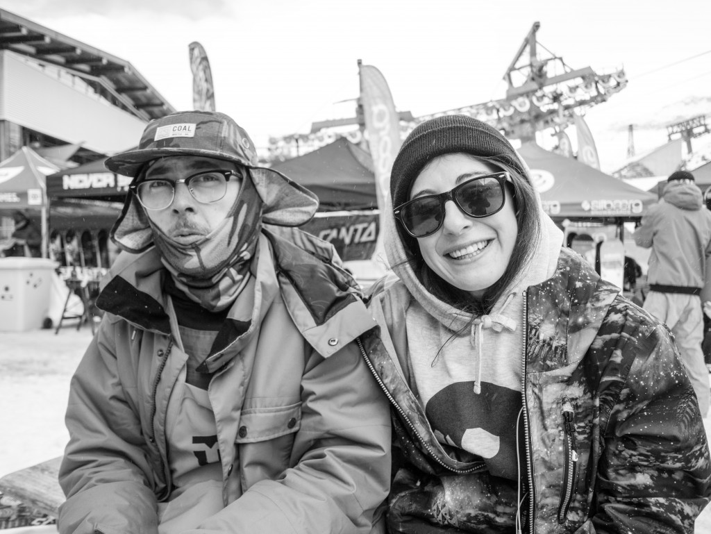 Peter Rossner and Mary Lugen are a rider and industry combo, with peter heading up the marketing and team managering for Deelux and Mary being one of their team riders. Peter states that he enjoys coming to Hintertux to film his friends and supply products for riders to test and give them some enjoyment on the hill. Mary finds the opening a great chance to meet up with all her friends and shred together.