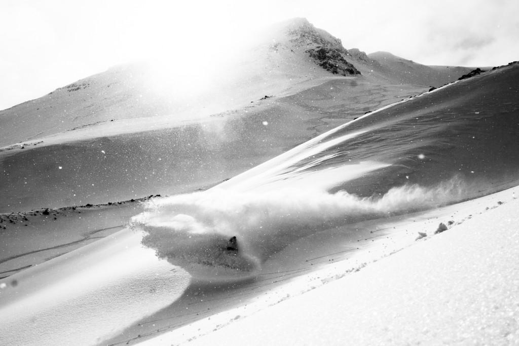 Antti Autti enjoying Mt Hlidarfjall. Photo: Ilmo Nittymaki