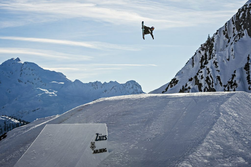 Billy flying high in Zurs. Photo: Red Bull