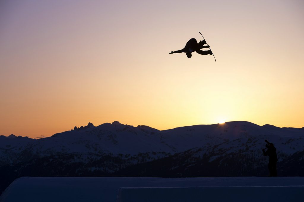 Mark boosting into the sunset. Photo: Red Bull
